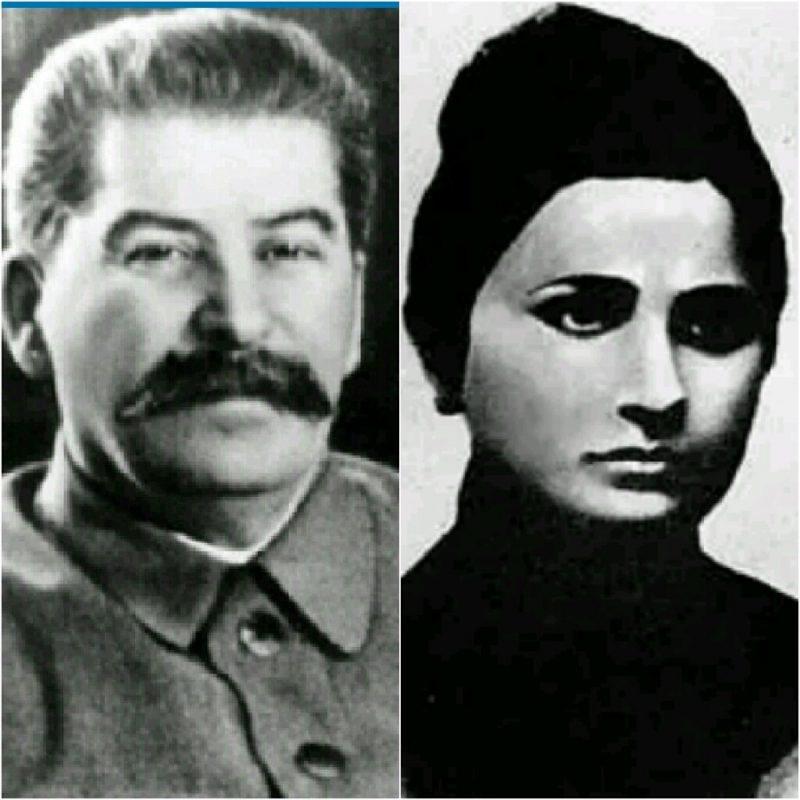 Иосиф Сталин и его первая жена Екатерина Сванидзе