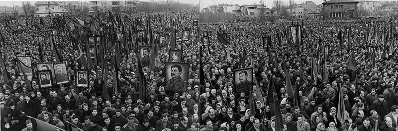 Фото с похорон Сталина