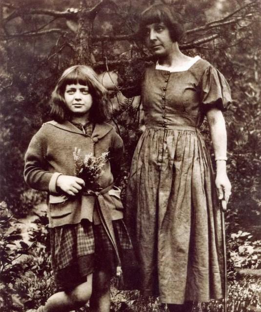 Марина Цветаева с дочкой Ариадной