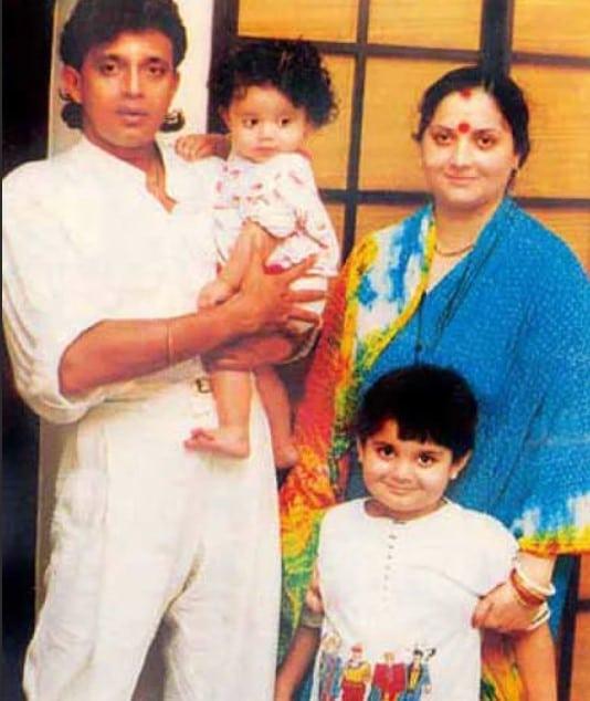 Митхун Чакраборти с женой и детьми