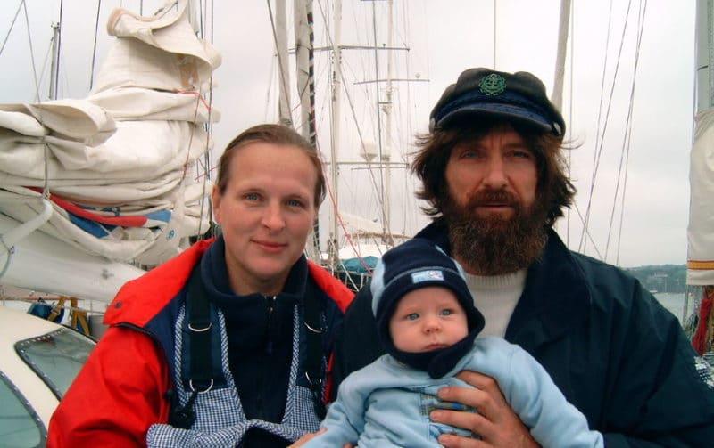 Федор Конюхов с женой и ребенком