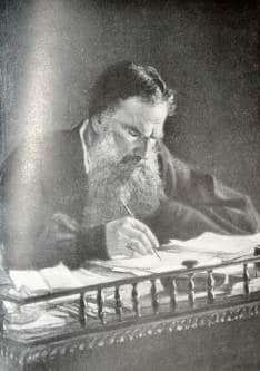 Лев Толстой в процессе творчества
