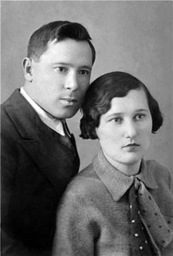Муса Джалиль с женой Аминой