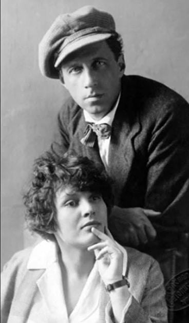 Сергей Есенин с женой Зинаидой Райх
