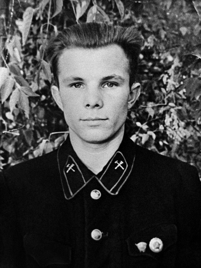 Юрий Гагарин в юности