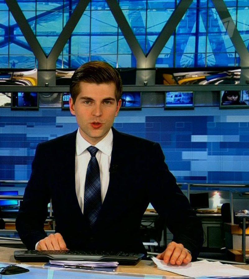 Дмитрий Борисов ведущий новостей на 1 канале