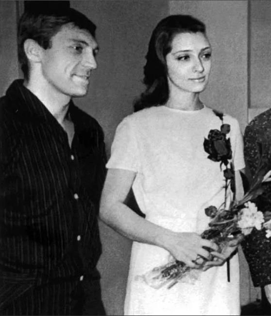 Владимир Высоцкий со второй женой Людмилой Абрамовой