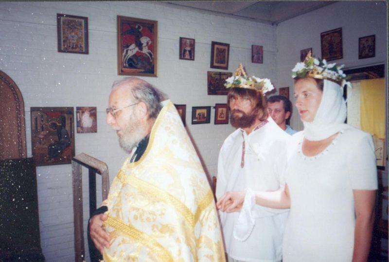 Федор Конюхов венчается со второй женой Ириной