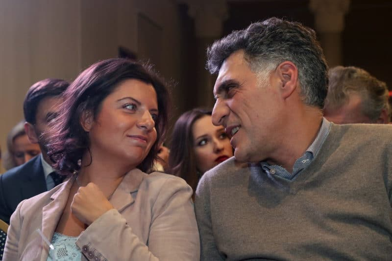 Маргарита Симоньян с Тиграном Кеосаяном