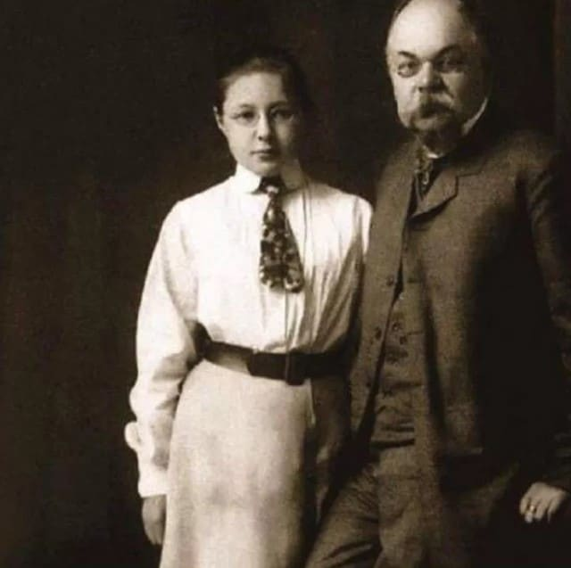 Марина Цветаева с отцом