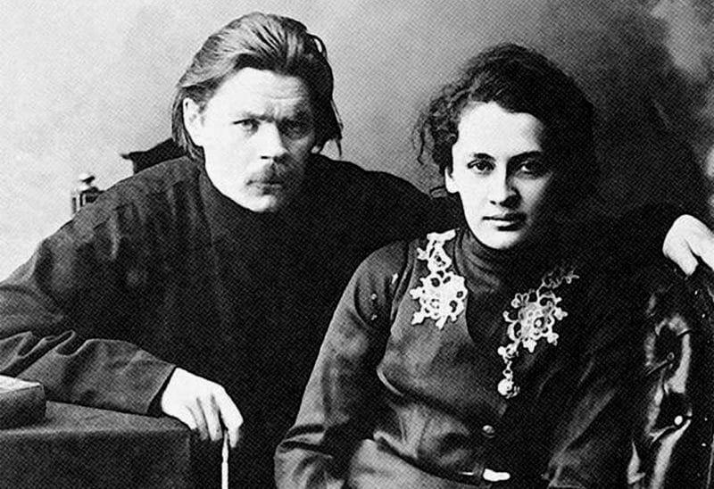 Максим Горький и его жена Екатерина Волжина