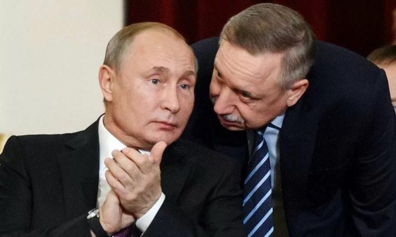 Александр Беглов с Путиным