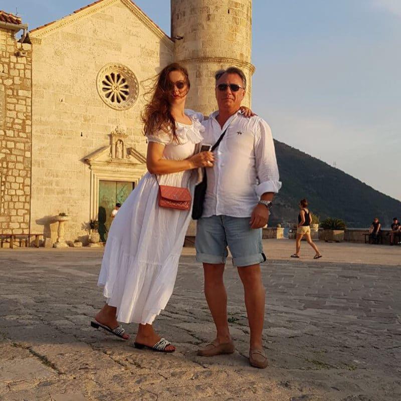 Екатерина Андреева с мужем на отдыхе