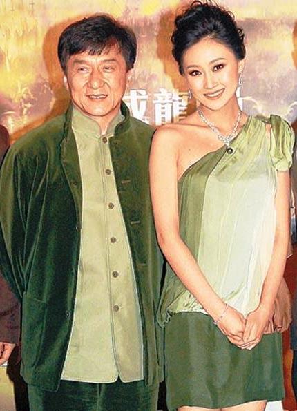 Джеки Чан и Линь Фэнцзяо