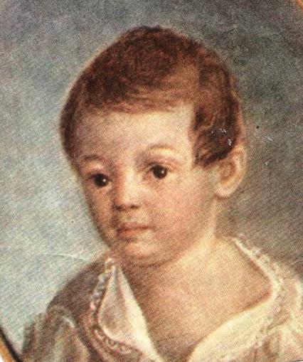 Портрет Александра Пушкина в детстве