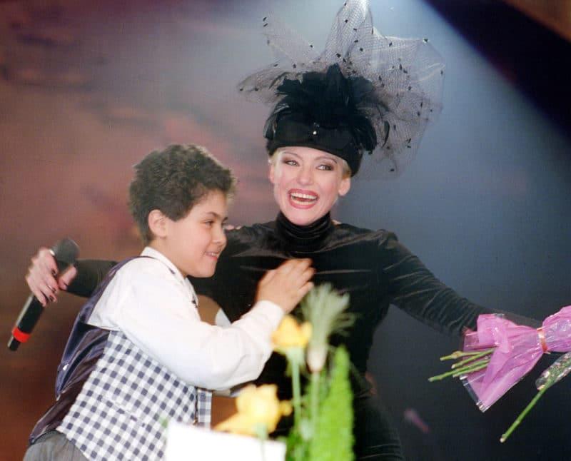 Ирина Понаровская с сыном Энтони