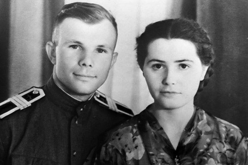 Юрий Гагарин и его жена Валентина Горячева