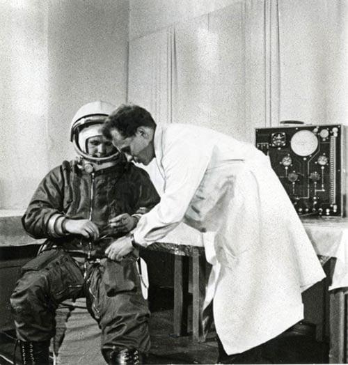 Юрий Гагарин перед полетом