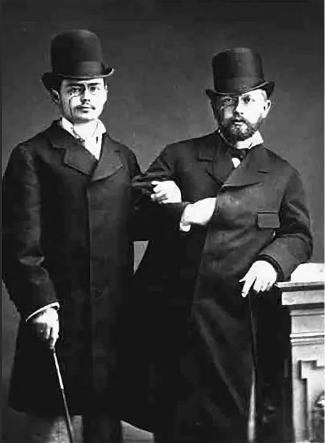 Петр Чайковский с Иосифом Котек