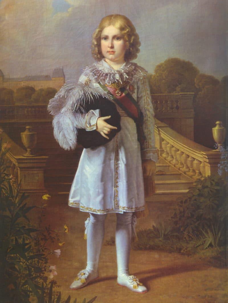 Портрет Наполеона Бонапарта в детстве