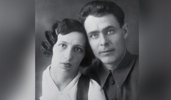 Молодой Леонид Брежнев с женой Викторией Денисовой