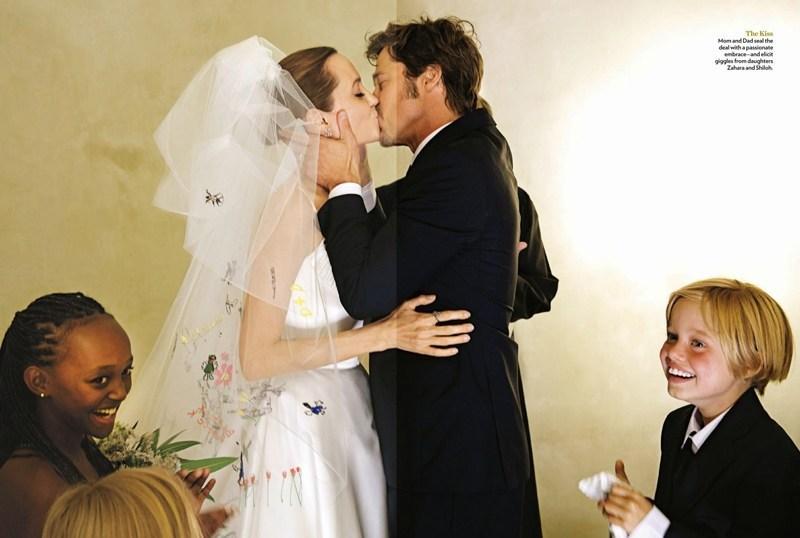 Свадьба Анджелины Джоли с Брэдом Питтом