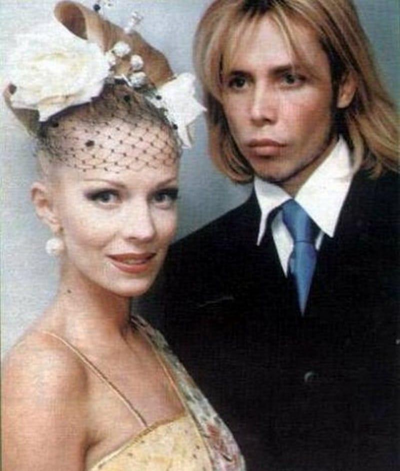 Сергей Зверев и его первая жена Наталья Ветлицкая