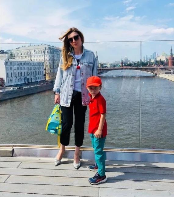 Ольга Скабеева с сыном
