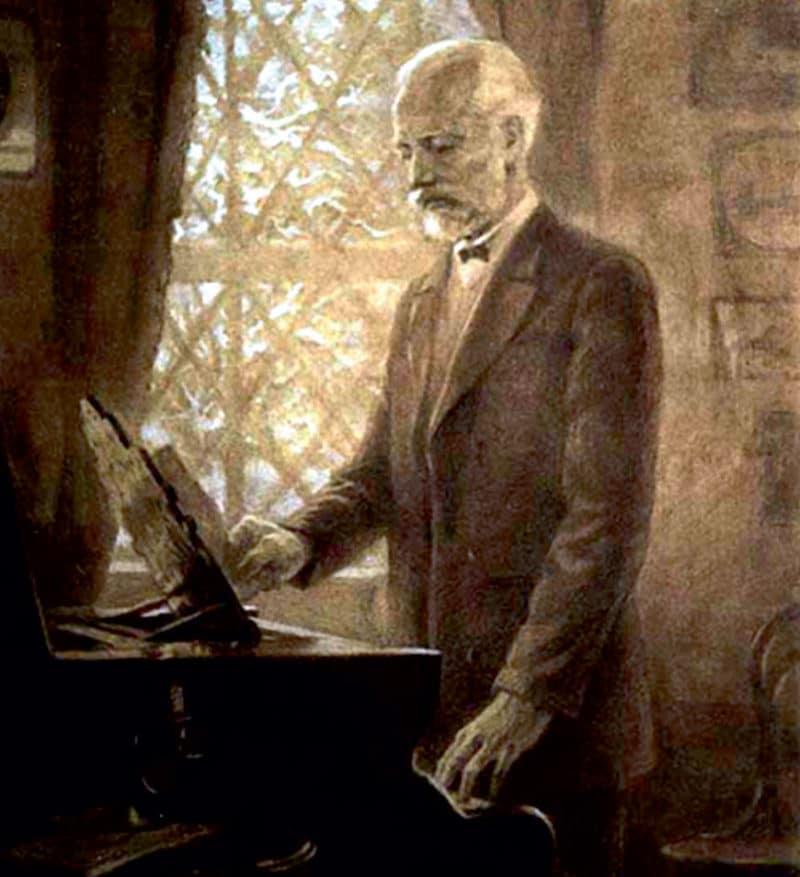Петр Чайковский за фортепиано