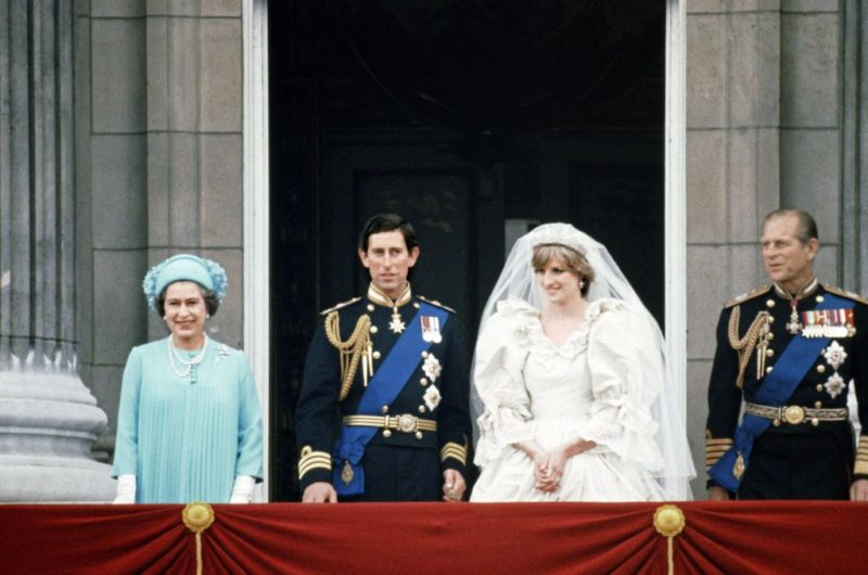 Елизавета II на свадьбе принца Чарльза и ДианыСпенсер