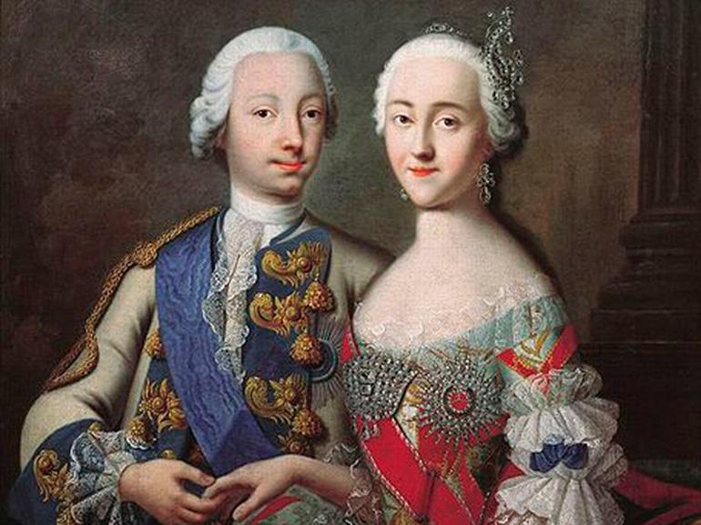 Екатерина 2 и Петр III