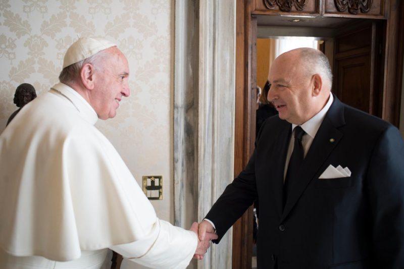 Вячеслав Кантор с Папой Римским