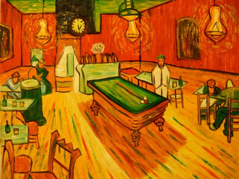 «Ночное кафе» Винсента Ван Гога