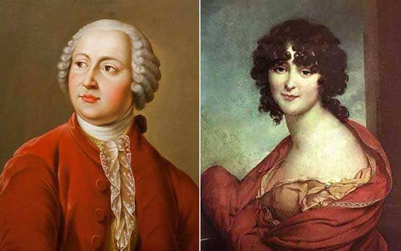 Михаил Ломоносов и Елизавета Цильх