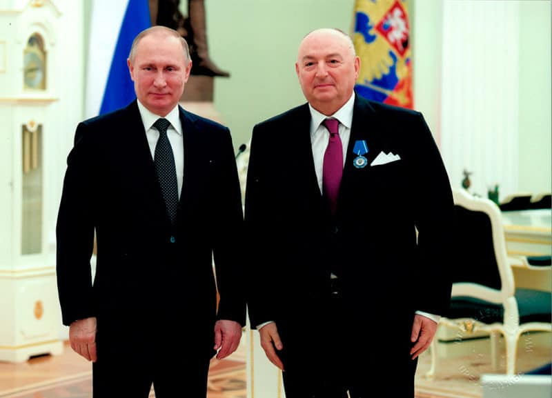 Вячеслав Кантор с Владимиром Путиным