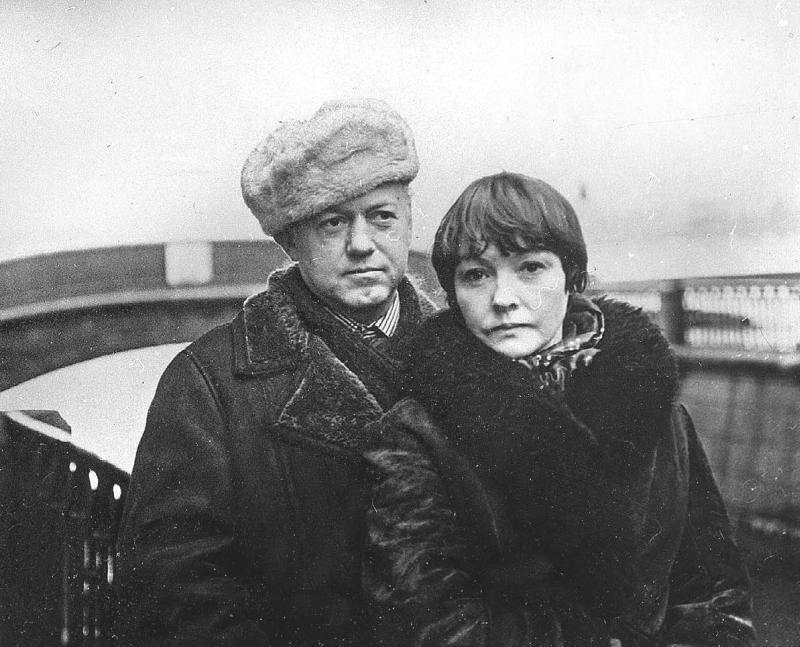 Белла Ахмадулина с Юрием Нагибиным