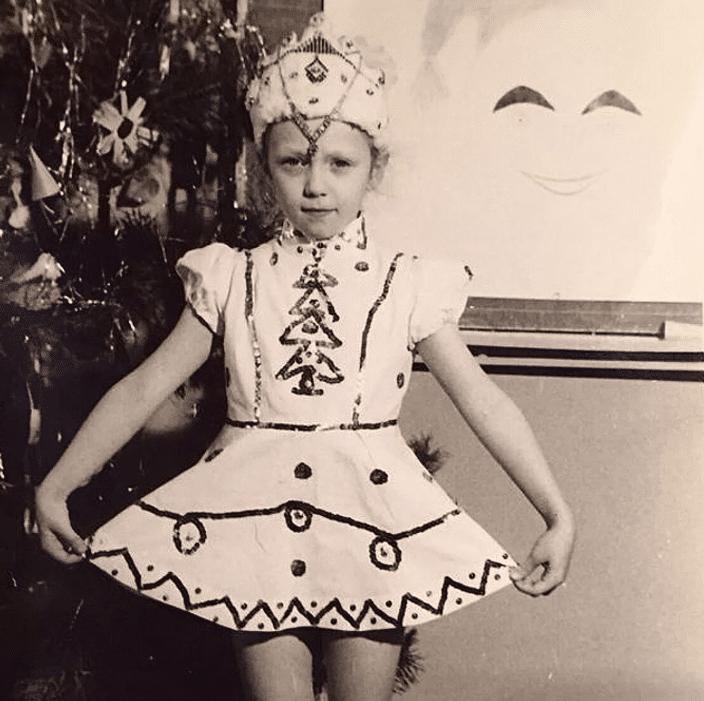 Альбина Джанабаева в детстве
