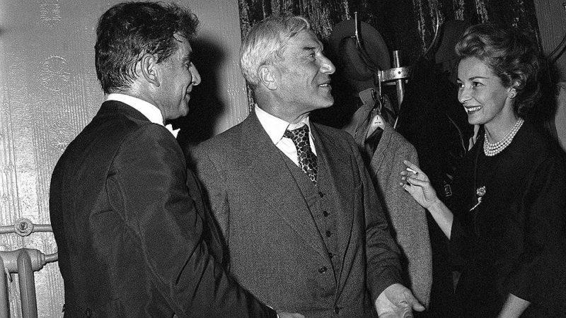Борис Пастернак на вручении Нобелевской премии