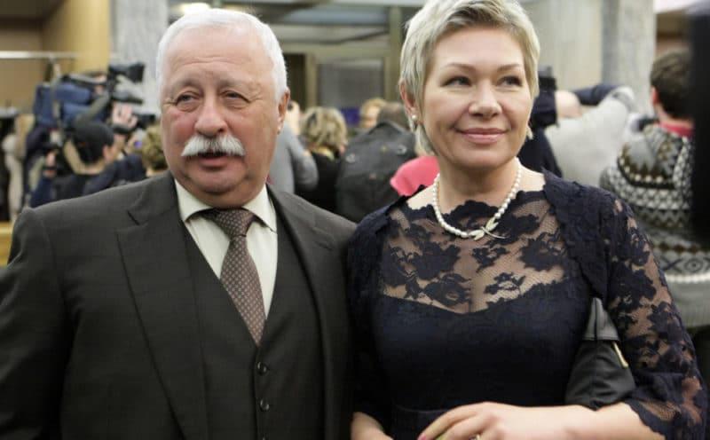 Леонид Якубович и его вторая жена Марина Видо