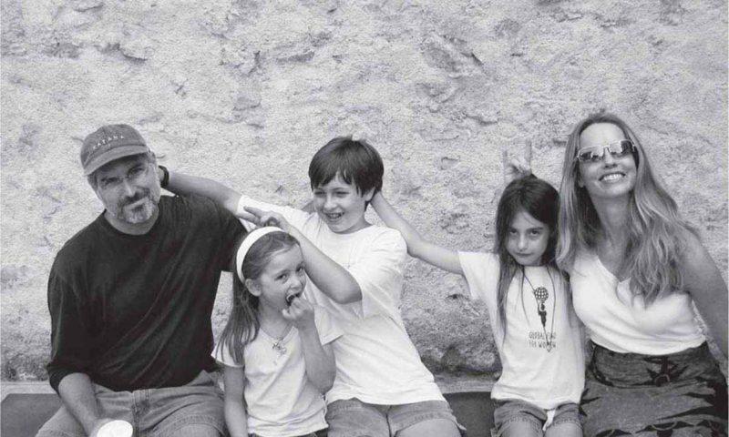 Стив Джобс с Лорен Пауэлл и детьми