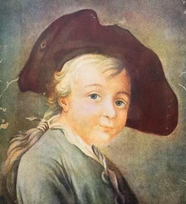 Портрет Александра Суворова в детстве