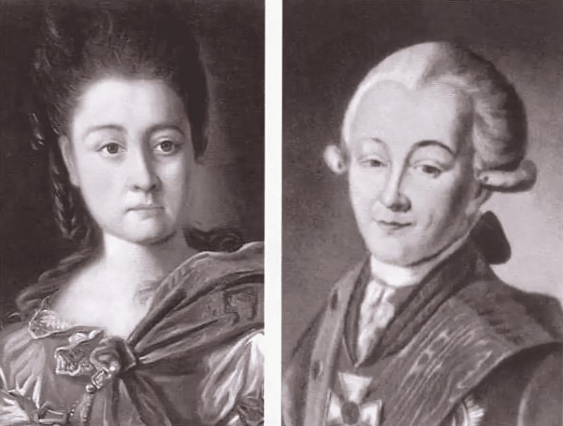 Александр Суворов и Варвара Прозоровская