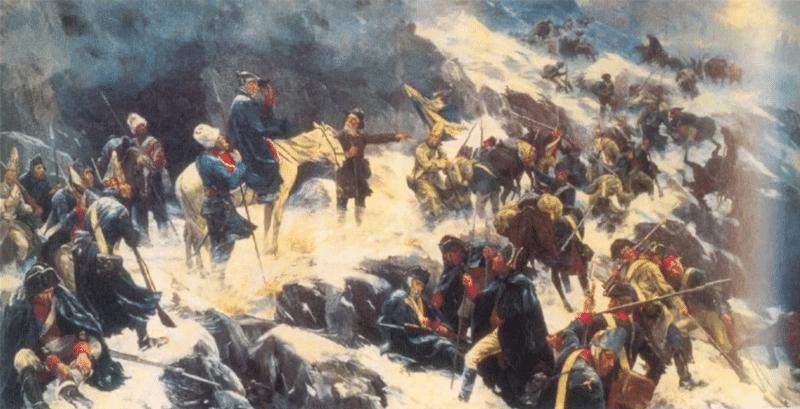 Переход через Альпы Александром Суворовым