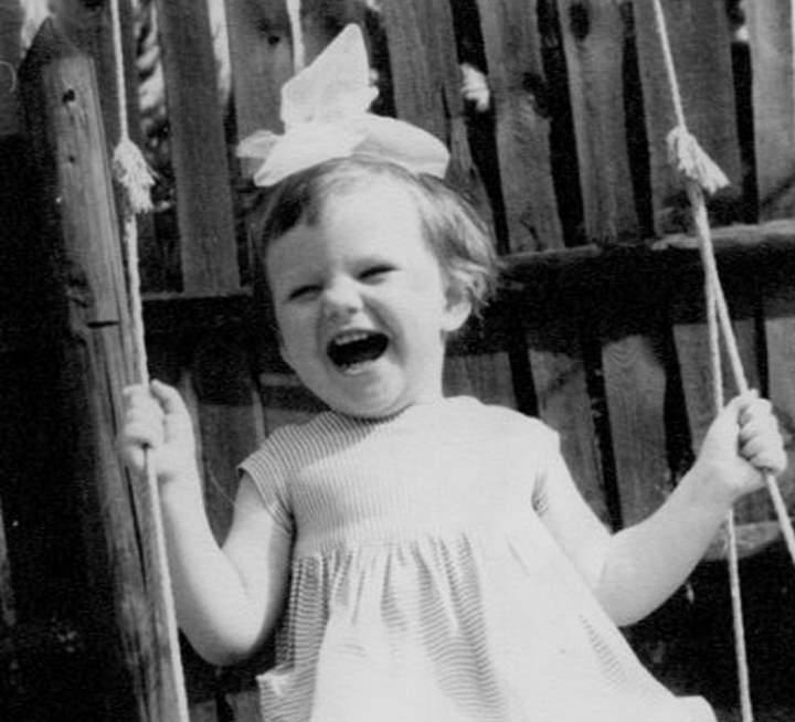 Александра Захарова в детстве