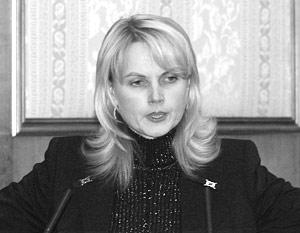 Татьяна Голикова на должности заместителя министра финансов