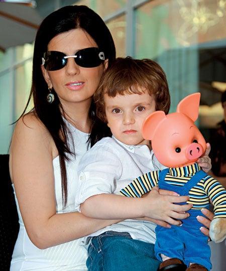 Диана Гурцкая с сыном