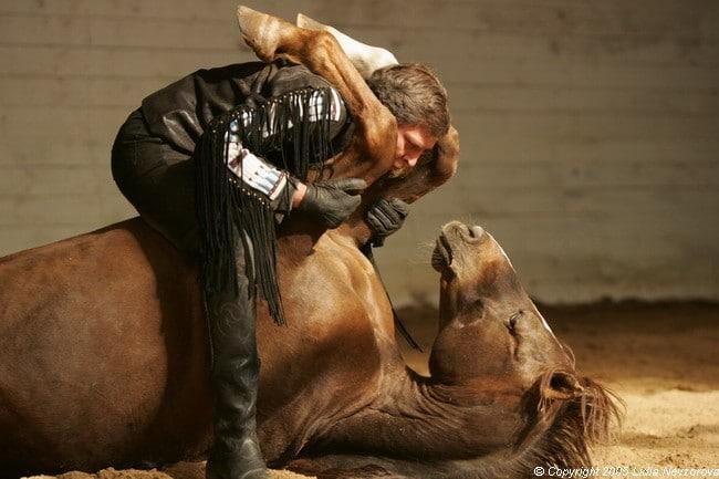 Александр Невзоров с лошадью