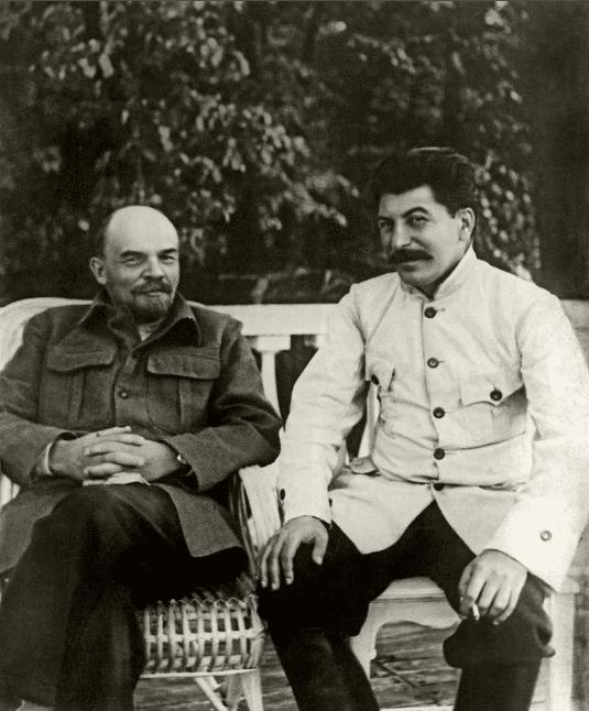 Владимир Ленин со Сталиным
