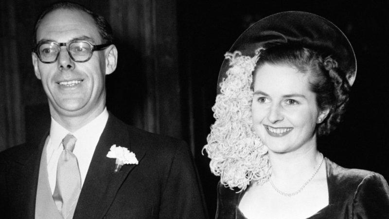 Свадьба Маргарет Тэтчер с Денисом Тэтчер