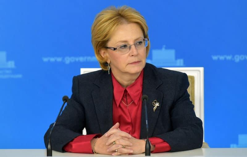 Вероника Скворцова на должности министра здравоохранения РФ